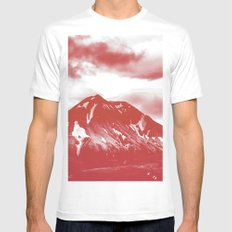 seeing red -mountain White MEDIUM Mens Fitted Tee