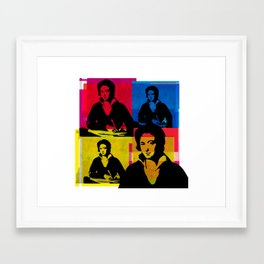 PERCY BYSSHE SHELLEY - ENGLISH POET, 4-UP POP ART COLLAGE Framed Art Print