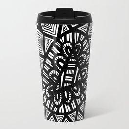 Black and White Doodle 7 Travel Mug