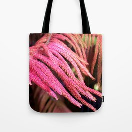 Alien pink wird plant forest Tote Bag