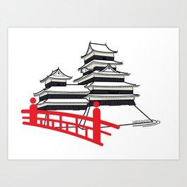 Icon-O-Tecture | Matsumoto Castle Art Print