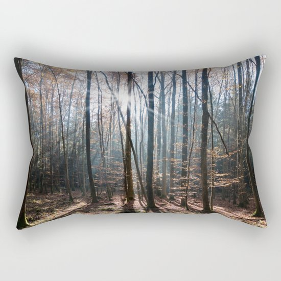 Light Shining in the Forest Rectangular Pillow