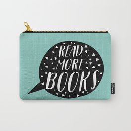 Read More Books (Speech Bubble - Blue) Carry-All Pouch