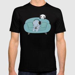 Kawaii Elephant And Panda T-shirt