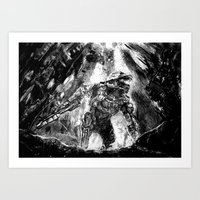 master chief Art Prints featuring Master Chief by Tufty Cookie