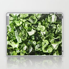 Vibrant greenery crystal rocks Laptop & iPad Skin