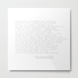 Shakespeare on Music - Merchant of Venice Typogrpahy Metal Print