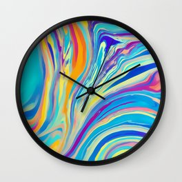 rainbow swirl Wall Clock
