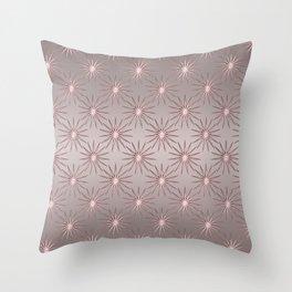 Elegant Star Pattern Rose Quartz Throw Pillow