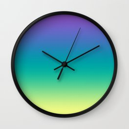 Northern lights #Ombre #gradient Wall Clock
