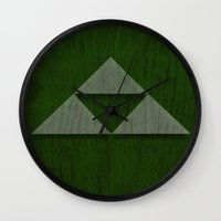 triforce Wall Clocks featuring Triforce by katsunogi