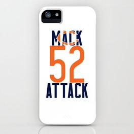 Khalil Mack 52 Bears Footbal iPhone Case