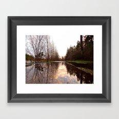 Northwest reflection Framed Art Print