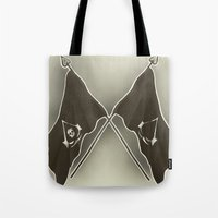 assassins creed Tote Bags featuring Assassins Creed Flags by TiffaArts