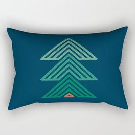 Geometric Mountain Cabin Rectangular Pillow