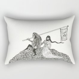 Mr. Please and Mrs. Papal Bull Rectangular Pillow