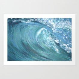 Wave Of Love Art Print