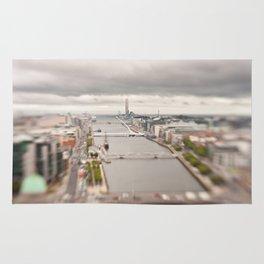 Dublin city center aerial view Rug