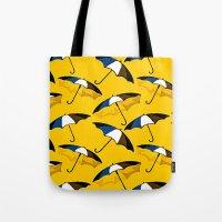 umbrella Tote Bags featuring Umbrella  by Saundra Myles