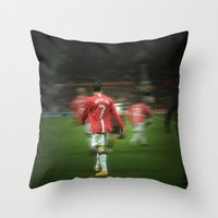 ronaldo Throw Pillows featuring Ronaldo by Shyam13