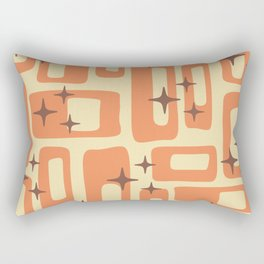 Retro Mid Century Modern Abstract Pattern 577 Orange Brown Rectangular Pillow