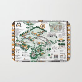 SYRACUSE campus map NEW YORK dorm decor graduate Bath Mat