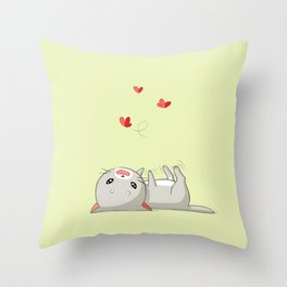 Playing Kitten Throw Pillow