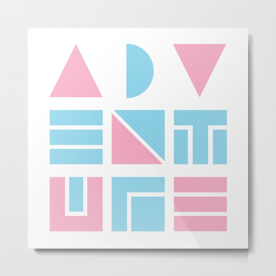 80s Geometric Adventure Metal Print