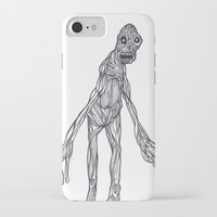 muscle iPhone & iPod Cases featuring Muscle Man by Nick Gibney