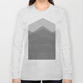 White Winter Skiing Mountain Climbing Long Sleeve T-shirt