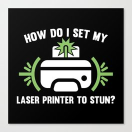 Laser Printer Canvas Print