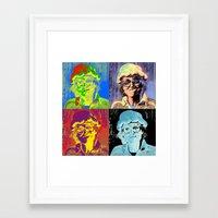 marylin monroe Framed Art Prints featuring Pumpkin woman goes Marylin Monroe by Anki Hoglund