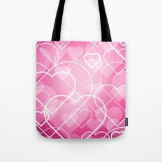 Hard line Heart Bokeh Tote Bag