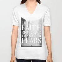 faith V-neck T-shirts featuring Faith by eARTh