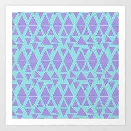 Abstract triangles pattern Art Print