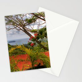 Costa Rica - Red Rooftop Stationery Cards