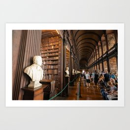 The Long Room of Trinity College Library in Dublin, Ireland Art Print