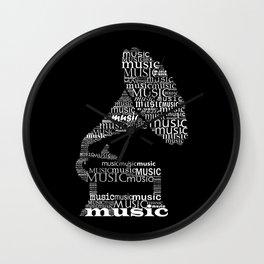 Invert gramophone Wall Clock