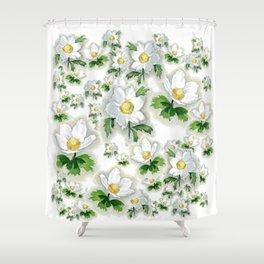 Alpine Flowers Anemones Shower Curtain