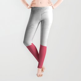 Marble And Pink Leggings