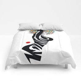 Abstract Beauty (A) Comforters