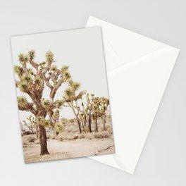 Pale Desert 2 - Joshua Tree Cactus Landscape Photography Stationery Cards
