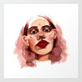 Woman Face Art Print