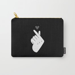 Saranghae (Black & White) Carry-All Pouch