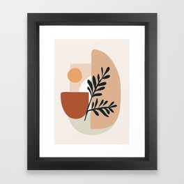 Geometric Shapes Framed Art Print