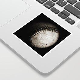 Battered Baseball in Black and White Sticker