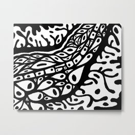 Cellular body black and white Metal Print