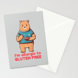 I'm allergic of gluten free Stationery Cards