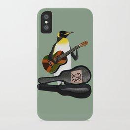 Penguin Busking iPhone Case