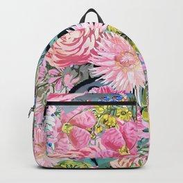 Watercolor vintage floral illustration Backpack